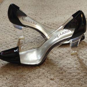 AMANDA Cinderella type dressy shoes 8  1/2 W